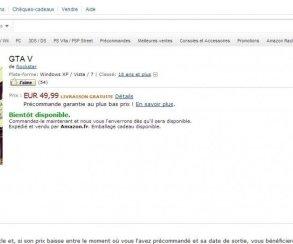 Grand Theft Auto V для PC появился во французском интернет-магазине