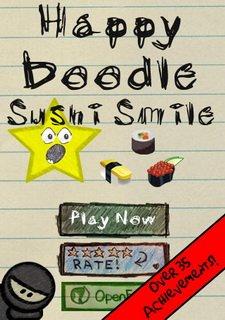 Happy Doodle Sushi Smile