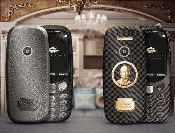 Caviar анонсировала титановую Nokia 3310 с золотым портретом Путина