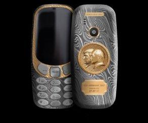 Caviar представила титановую Nokia 3310 cпортретом Путина иТрампа