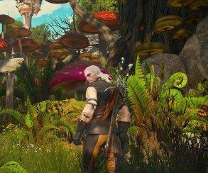 Геральт попадает в грибное королевство на скриншотах из «Крови и вина»