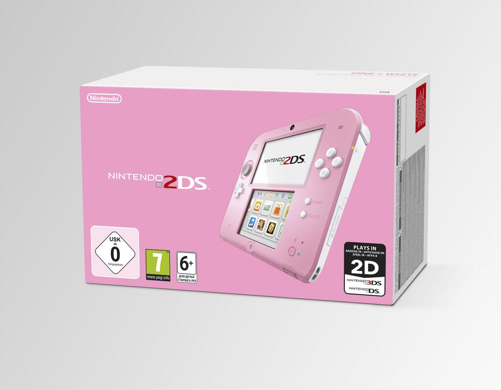 Бело-розовую 2DS упакуют с Kirby: Triple Deluxe для Европы - Изображение 1