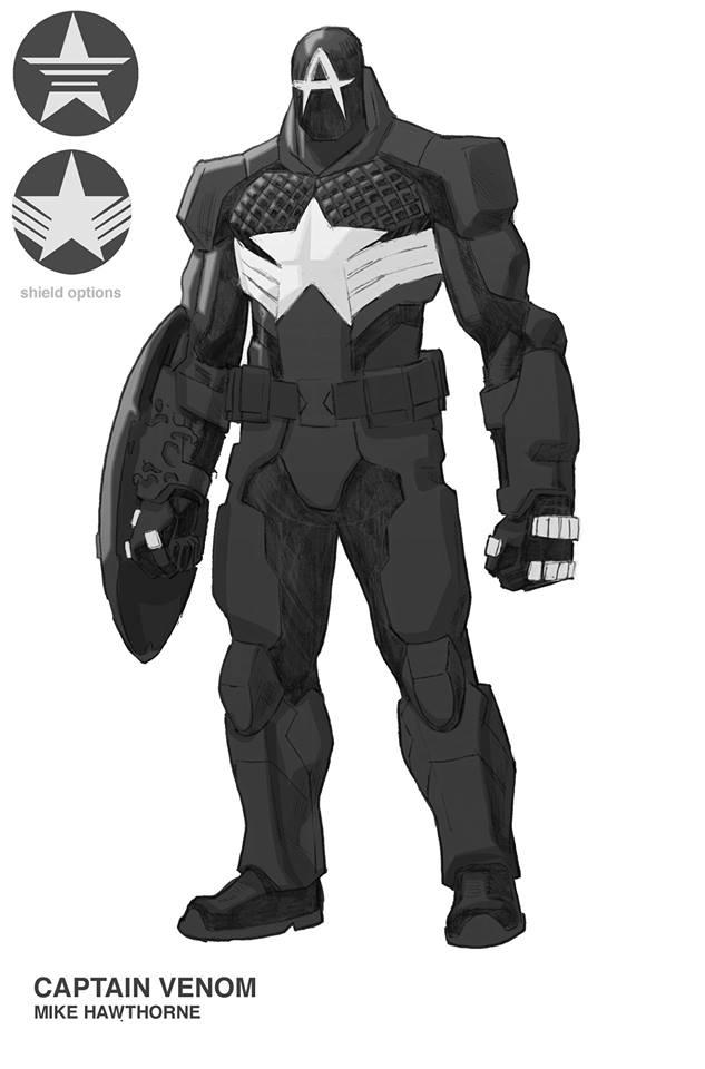 Капитан Америка + Веном = Капитан Веном, ионвыглядит очень круто. - Изображение 1