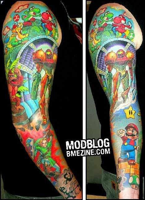 Татуировки фанатов видеоигр. - Изображение 23