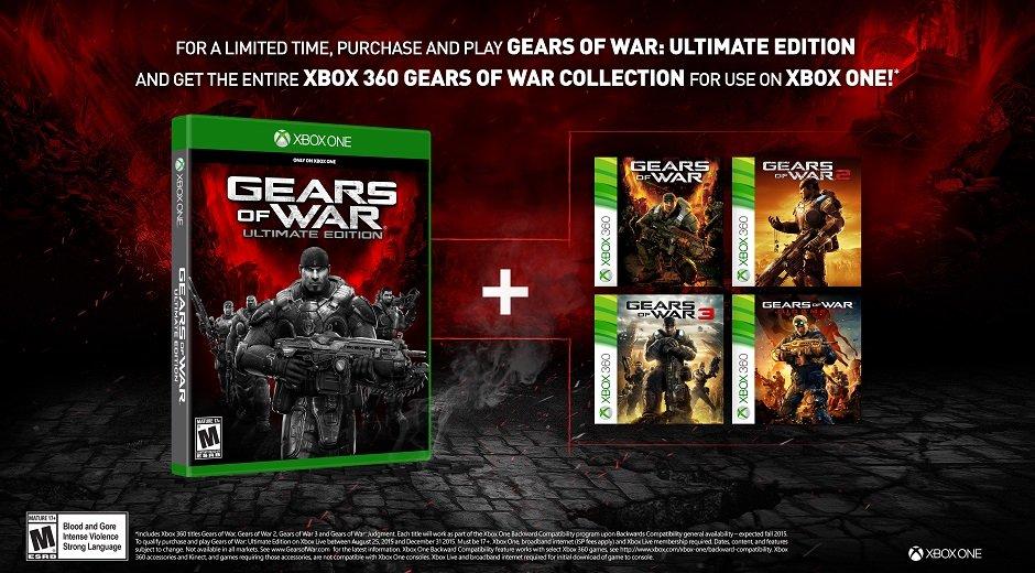 Бонусом за покупку Gears of War: Ultimate Edition станет вся серия - Изображение 1