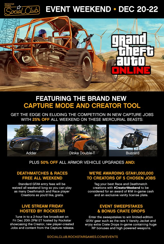 GTA Online устраивает конкурс со скидками и другие события пятницы. - Изображение 1