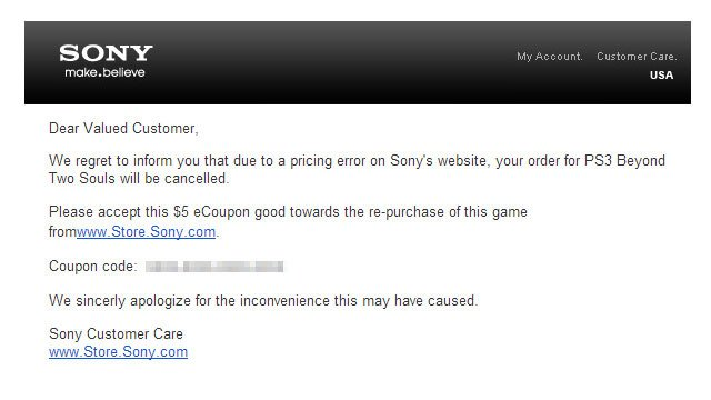 SONY отменили предварительные заказы на Beyond: Two Souls - Изображение 1