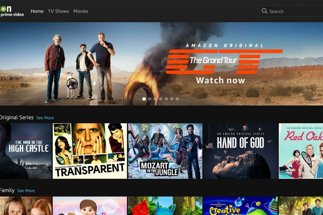 В Российской Федерации запустился стриминговый сервис Amazon Prime Video