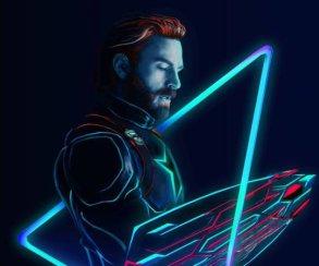 Супергерои иретровейв: взгляните нанеоновые фанатские постеры «Войны Бесконечности»