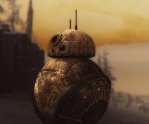 Моддеры добавили дроида BB-8 из«Звездных войн» вSkyrim. Исделан ондвемерами
