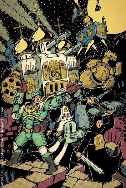 Warhammer 40000: Россия— Боевые попы икосмический голубой берет | Канобу - Изображение 3993