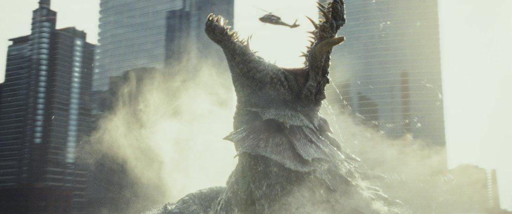 Огромные, жуткие животные иотважный Дуэйн Джонсон нановых кадрах фильма «Рэмпейдж». - Изображение 2