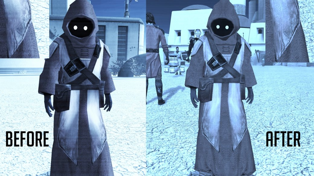 Фанатский мод для Knights ofthe Old Republic значительно улучшает внешний вид персонажей | Канобу - Изображение 3
