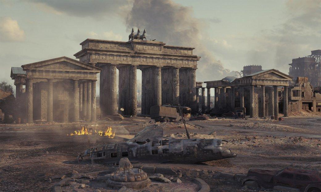Бранденбургские ворота воссозданы сдовольно высокой точностью— правда, сучетом технических ограничений.