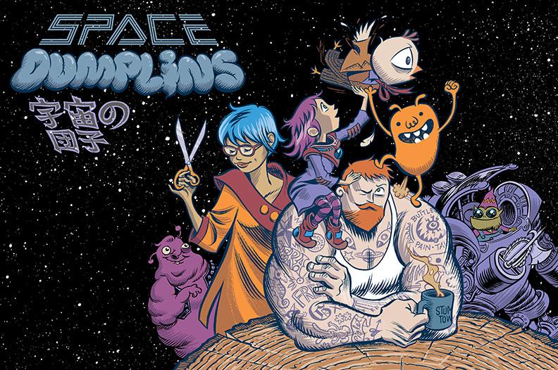 «Космические лепешки»— комикс осемье, дружбе игигантских китах, пожирающих планеты. - Изображение 1