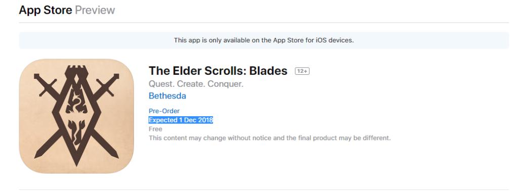 Авторы The Elder Scrolls: Blades без предупреждения перенесли релиз игры (Обновлено: не перенесли) | Канобу - Изображение 1889