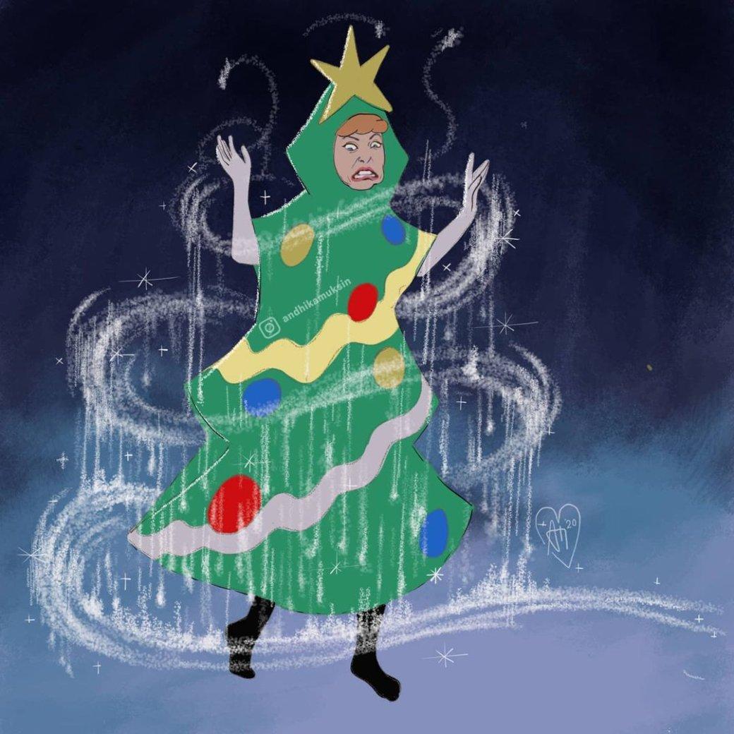 Злые инетрезвые: честные арты отом, как принцессы Disney отмечают Новый год   Канобу - Изображение 6906