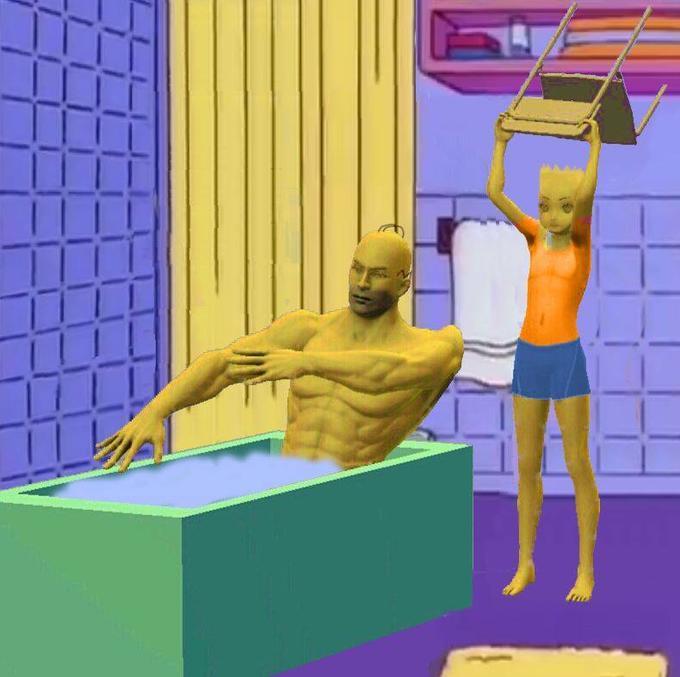 Барт Симпсон ударил Гомера стулом поголове. Идаже это стало мемом!. - Изображение 3