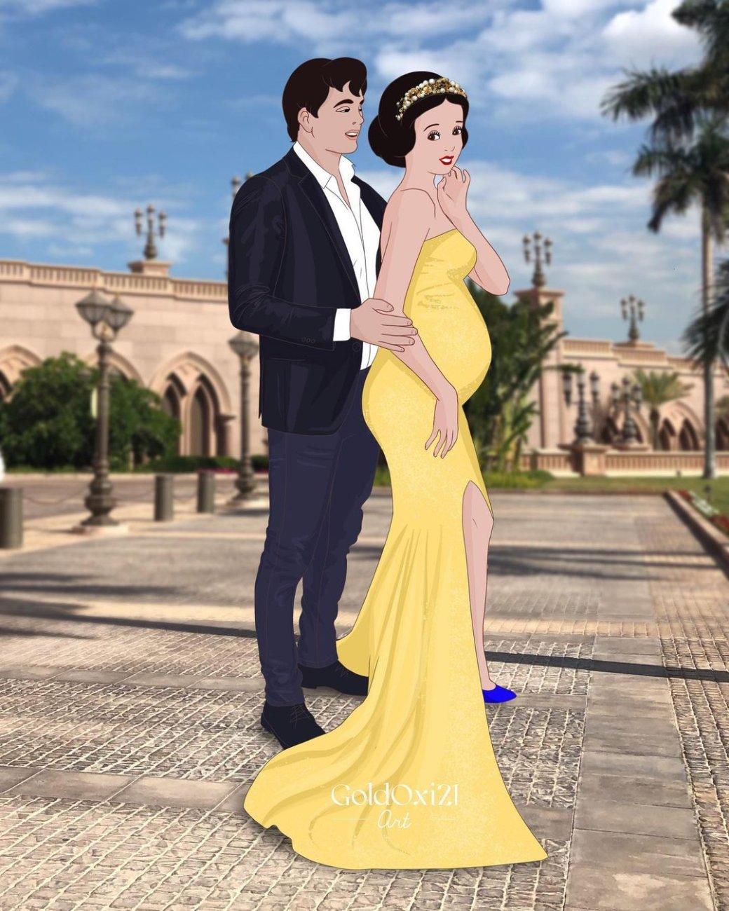 Российская художница изобразила беременных принцесс Disney | Канобу - Изображение 11173