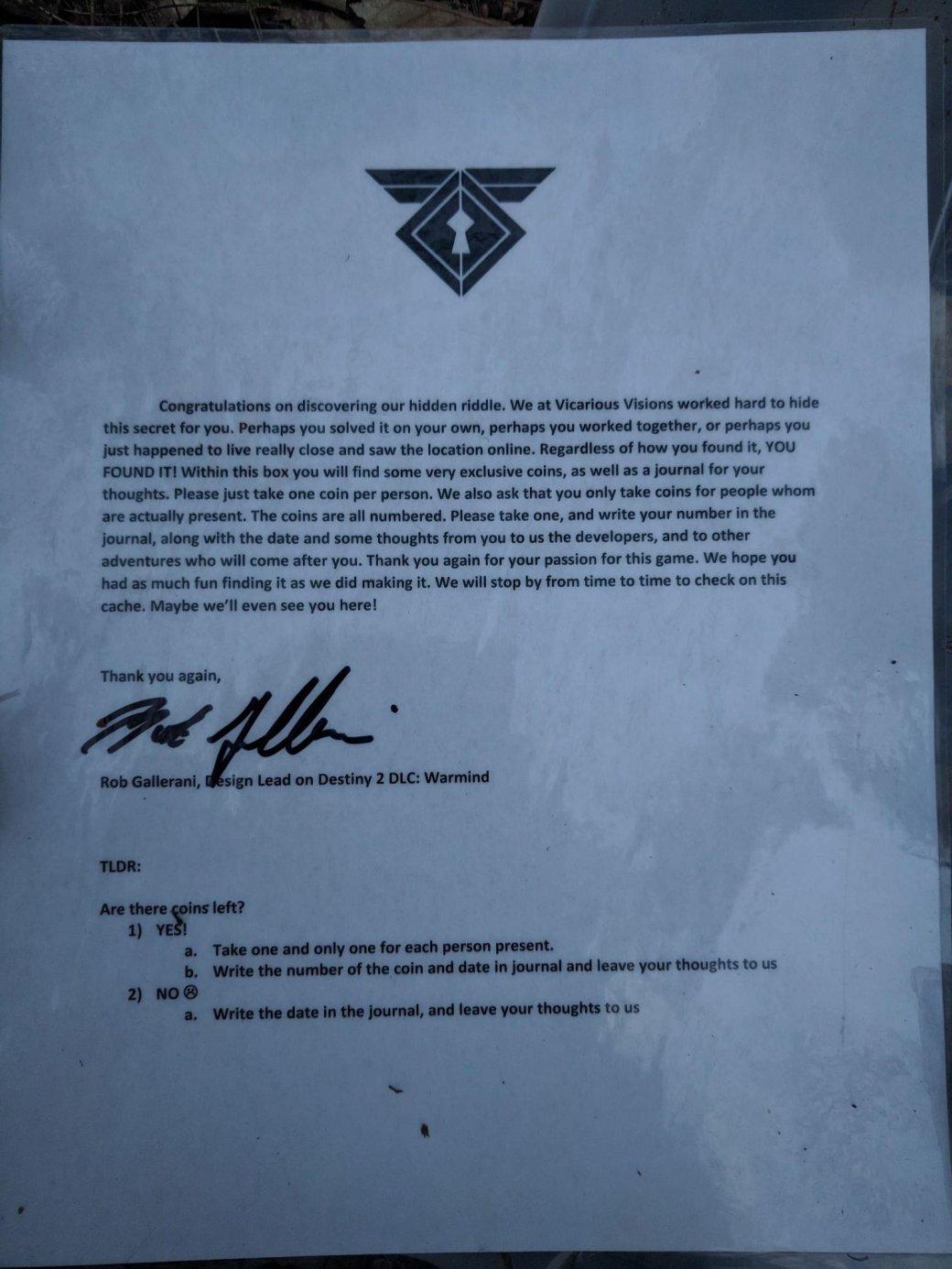Фанаты Destiny 2 нашли около Нью-Йорка клад, оставленный разработчиками DLC Warmind. - Изображение 3
