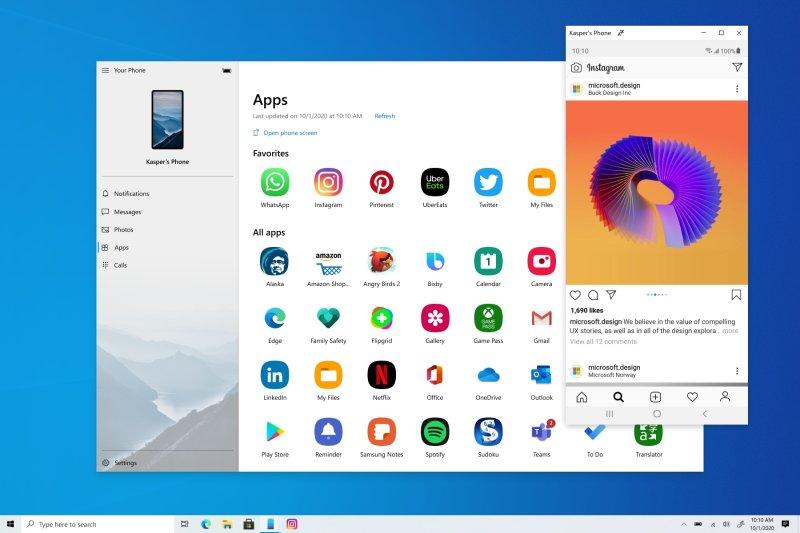 Теперь на Windows 10 можно запускать и работать с Android-приложениями со смартфона