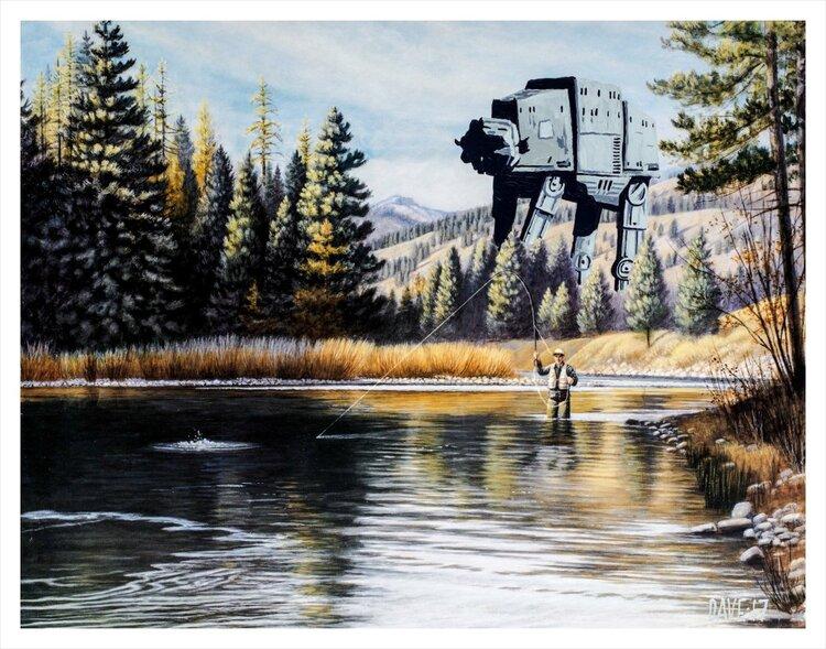 Художник добавляет элементы фантастических фильмов назаурядные пейзажи   Канобу - Изображение 4125
